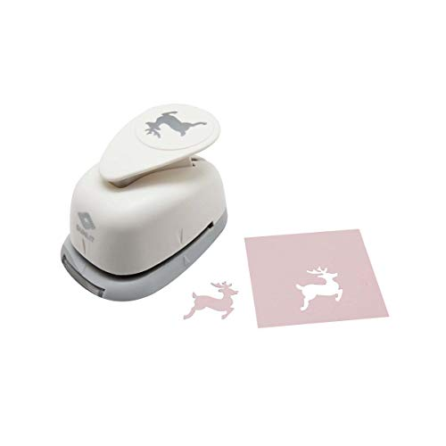Bira 1 inch Reindeer Lever Action Craft Punch for Paper Crafting Scrapbooking Cards Arts (Christmas Paper Tree Punch)