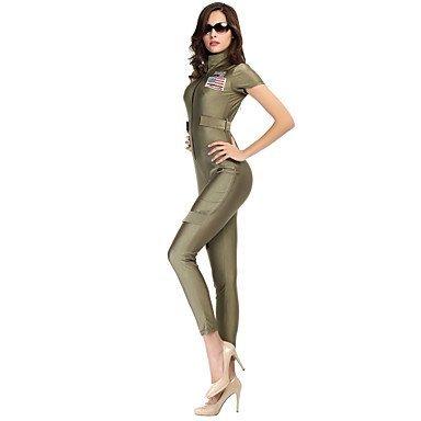 Mujer Camisas y blusas de mujer verde Jumpsuits, Bodycon/Casual Manga corta, color - verde, tamaño XL: Amazon.es: Deportes y aire libre