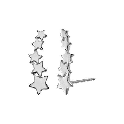 Boma Jewelry Sterling Silver Star Ear Crawler Earrings