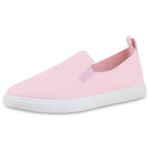 napoli-fashion - Mocasines Mujer rosa blanco