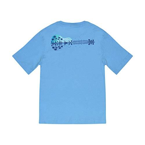 9956fe5e257d3 Vineyard Vines Boy's Short Sleeve Graphic Pocket T-Shirt(Ocean Breeze  Guitar Sunset,