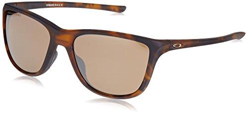 Oakley Women's OO9362 Reverie Square Sunglasses, Matte Brown Tortoise/Tungsten Iridium Polarized, 55 ()