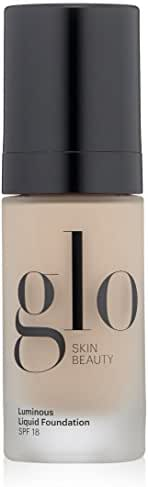 Glo Skin Beauty Luminous Liquid Foundation SPF 18 in Porcelain | 10 Shades | Sheer Coverage, Dewy Finish | 1 fl. Oz.