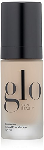 Glo Skin Beauty Luminous Liquid Foundation SPF 18 – Porcelain, Mineral Makeup Foundation, 1 fl. oz, 8 Shades | Cruelty Free