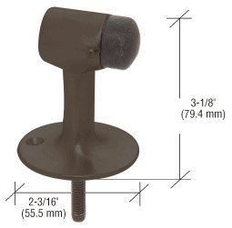 C.R. LAURENCE DL2522DU CRL Dark Bronze Floor Mounted Heavy Duty Door Stop