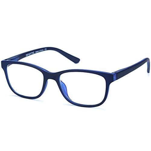 ZENOTTIC Gafas Infantiles de Bloqueo de Luz Azul para Ordenadores Gafas de Juego de Lentes Antirreflejos y Ligeros Proteccion de Ojos para Ninos y Ninas (AZUL)