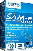 Jarrow Formulas SAM-e 400 à 400 mg - 30 comprimés gastro-résistants