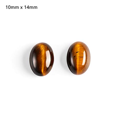 (FOVIUPET Yellow Crystal Pendant Tiger Eye Cabochon Bead Natural Stones CAB No Hole Fit DIY Handicraft Home Ornaments Decoration 1PC(1))