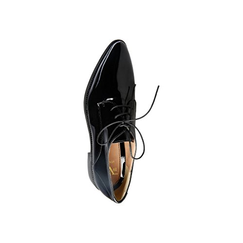 19V69 Mirabelle, Zapatos de Cordones Derby para Mujer Negro