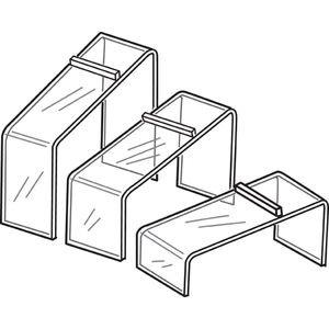 Acrylic Shoe Risers, Set of 3, Slanted