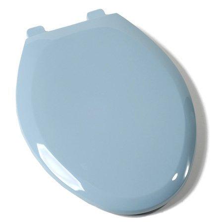 Comfort Seats C1B3E4S-45 EZ Close Deluxe Plastic Elongated Toilet Seat, Regency Blue