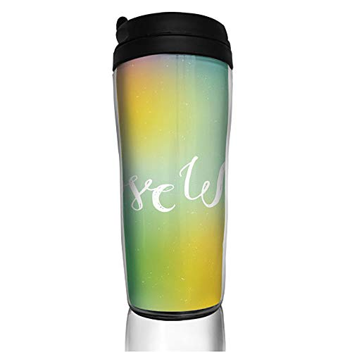 Stainless Steel Insulated Coffee Travel Mug,Written Quote Abstract Backdrop LGBT Community,Spill Proof Flip Lid Insulated Coffee cup Keeps Hot or Cold 11.8oz(350 ml) Customizable -
