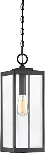 Quoizel WVR1907EK Westover Modern Industrial Outdoor Mini Pendant Ceiling Lighting, 1-Light, 150 Watt, Earth Black (21