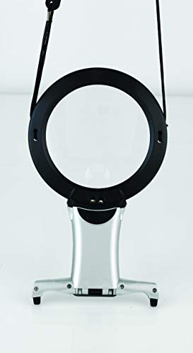 Daylight Company Naturalight Plastic LED Hands Free Neck Magnifier with Stand, Black ()