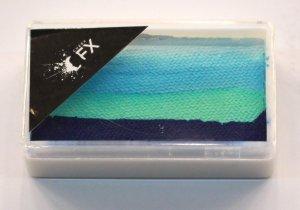 30g Split Cake Dark Blue-Light Blue (9) Water Based Paint