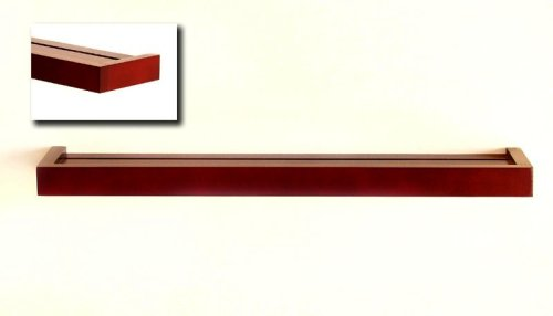 """Review Modern Floating Shelf 48"""", Dark Cherry MADE IN USA By Woodform by Woodform"""