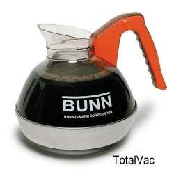 Bunn 06101.0101 64 oz. Easy Pour Coffee Decanter with Orange Handle and Stainless Steel Bottom