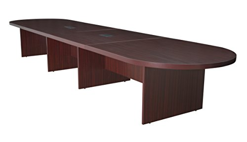 Regency Legacy Laminate - Regency Legacy 192-inch Modular Racetrack Conference Table with 2 Power Data Grommets- Mahogany