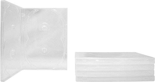 (5) Clear Quad 4-Disc Overlap Style DVD Cases/Boxes - DV4R14CL ()