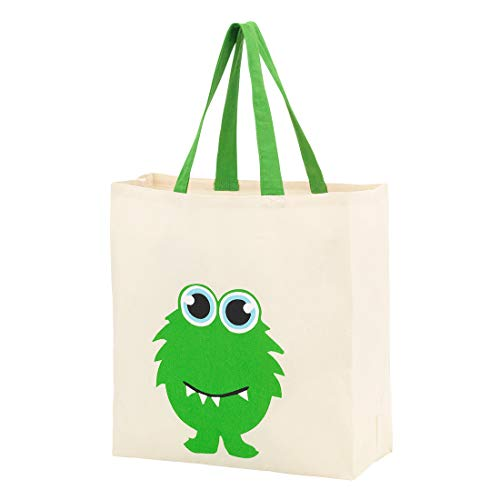 Custom Personalized Halloween Bag Trick or Treat Tote Storage Pumpkin Witch Monster Princess (Blank - -