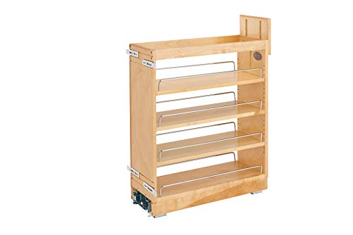 Rev-A-Shelf - 448-BCBBSC-8C - 8 in. Pull-Out Wood Base Cabinet Organizer with Ball-Bearing Soft-Close Slides