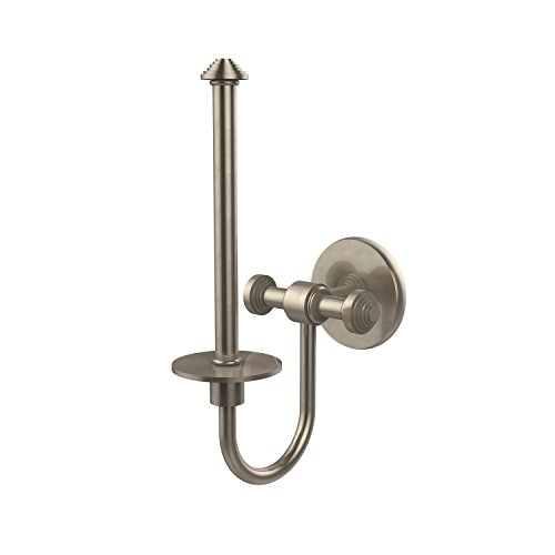 (Allied Brass SB-24U-PEW Southbeach Collection Upright Toilet Tissue Holder, Antique Pewter)