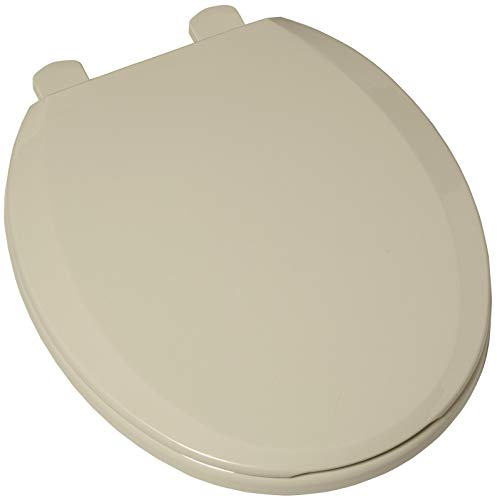 American Standard 5259b.65c Plastic Round Toilet Seat and Cover - Includes Slow, Bone