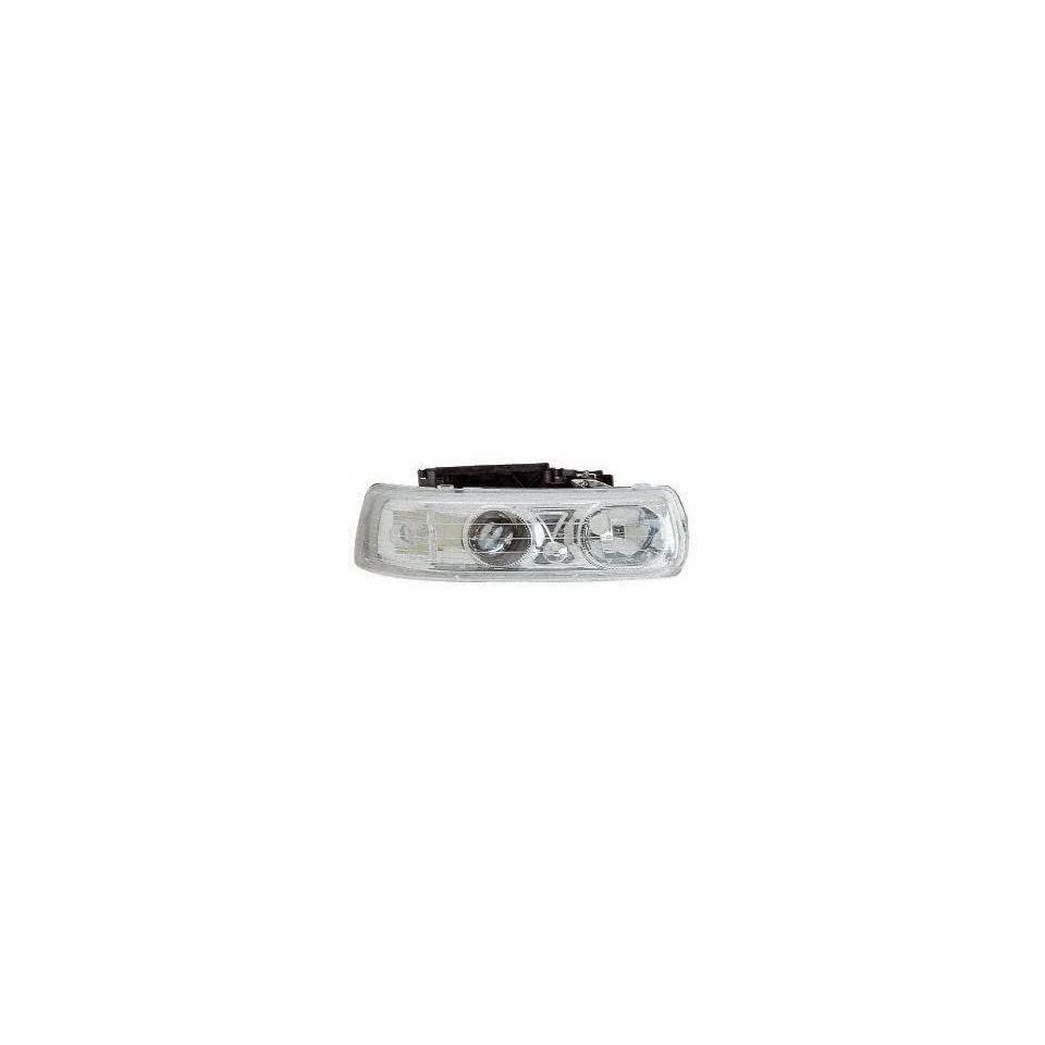 99 02 CHEVY CHEVROLET SILVERADO PICKUP EURO PROJECTOR HEADLIGHT TRUCK, one set (left and right included), Chrome Housing,Claer (1999 99 2000 00 2001 01 2002 02) CF9902PHLC