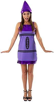 Womens Adult Crayon Fancy Dress Costume Funny Novelty Hen Do Night ... 2e18f4617