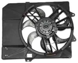 TYC 620240 Ford/Mercury Replacement Radiator/Condenser Cooling Fan Assembly - Ford Escort Condenser