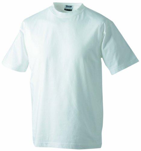 James & Nicholson Jungen T-Shirt Junior Basic Rundhals, Gr. X-Small (Herstellergröße: XS (98/104)), Weiß