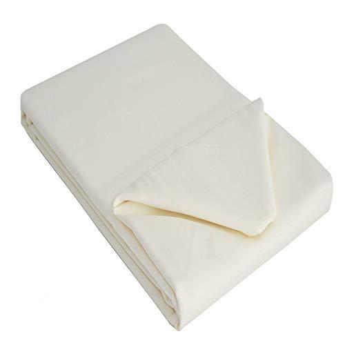 Belledorm 100% Cotton Sateen Flat Sheet (Full) (Ivory)