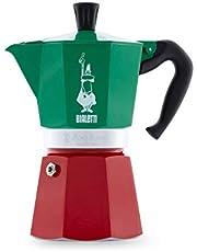 Bialetti 5323 espressobryggare 5323 espressobryggare, aluminium, grön, röd, vit