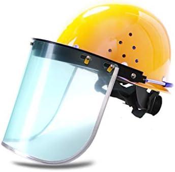 LCSHAN 透明保護マスクヘルメット耐衝撃性高温補強 (Color : Yellow)