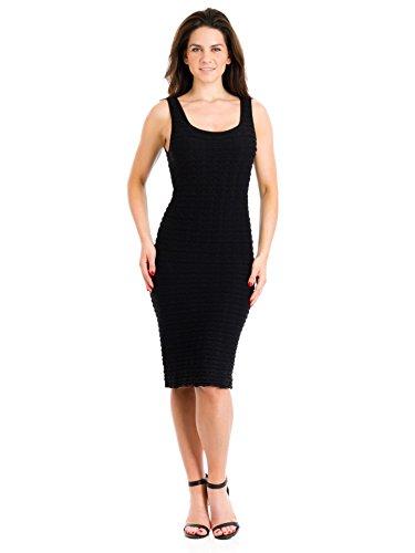 Tees by Tina Crinkle Tank Dress, Black, (Crinkle Tank Dress)
