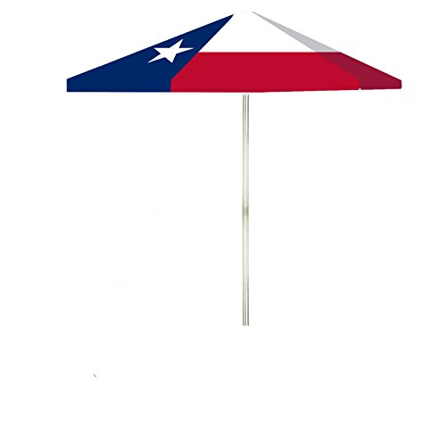 Best of Times Flag - Texas 6' Square Market (6 Foot Square Patio Umbrella)