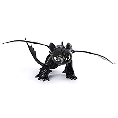 Dreamworks Dragons, Toothless Dragon Figure with Moving Parts, for Kids Aged 4 and Up: Toys & Games
