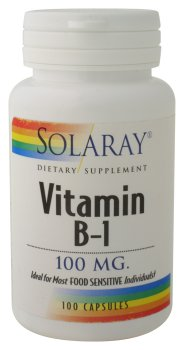 Solaray - Vitamine B-1, 100 mg, 100 capsules