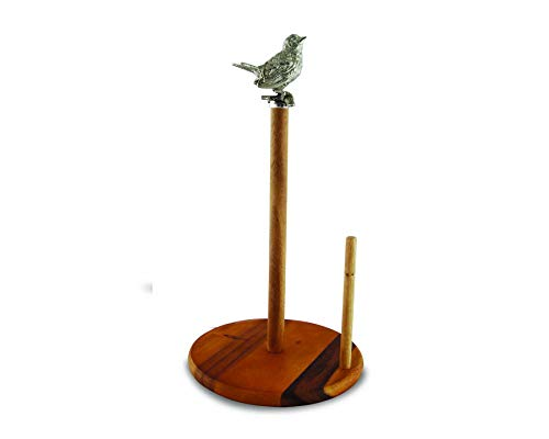 Vagabond House Paper Towel Holder With Pewter Song Bird Topper 15