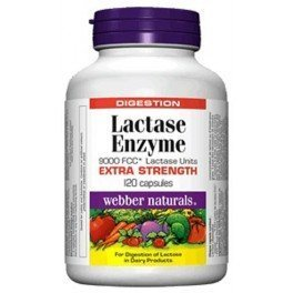 Webber Naturals - Lactase Enzyme Extra strength 120 capsules