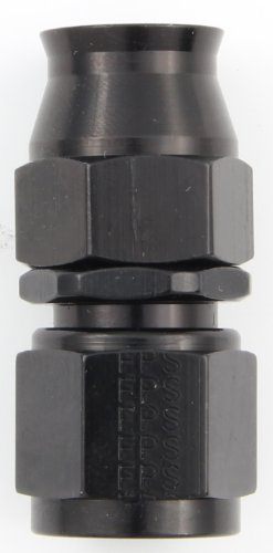 Hose Straight Fittings (Fragola 680106-BL Black Size (-6) Straight PTFE Hose Fitting)