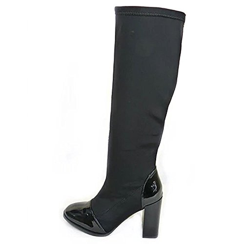 Aaishaz 786 New Smart Sexy Ladies Smart Stiletto Heel Black A2668 Long Fetish Boots UK Size
