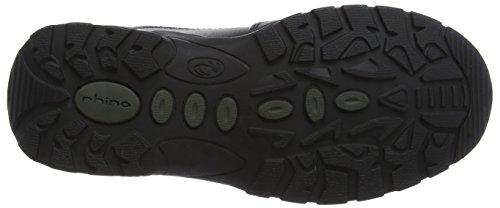 Rhino , Jungen Sneaker Schwarz schwarz, Schwarz - schwarzes Leder - Größe: L6