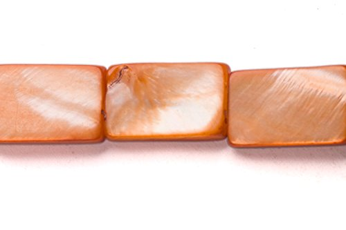 Shell Flat Rectangle Beads - Brown Mother-Of-Pearl Flat Rectangle Shell Beads Size:15x10mm