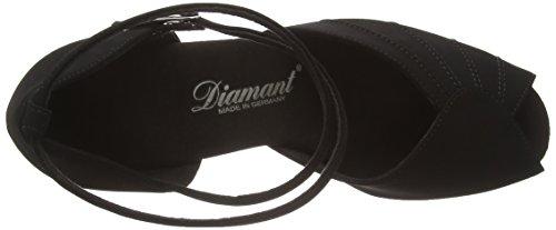 Diamant Diamant Damen Latein Tanzschuhe 027-060-040 - Zapatos de baile Mujer Negro (schwarz)