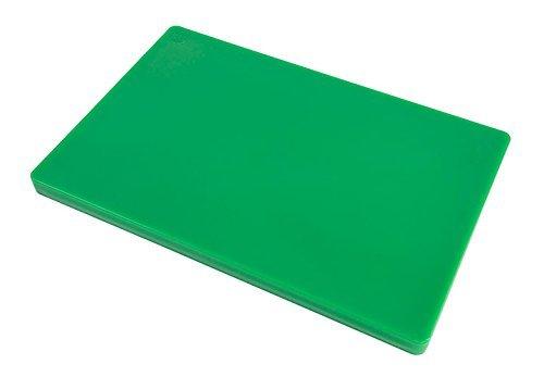 Restaurant Thick Green Plastic Cutting Board - 18 x 12 x 1 I