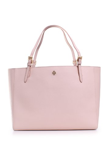Signature Buckle Tote - Tory Burch Women's York Buckle Tote, Light Oak, One Size