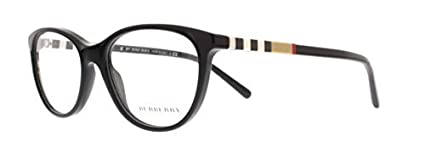 Burberry be2205 occhiali in nero BE2205 3001 52 Burberry - BE 2205 Geometrico acetato donna