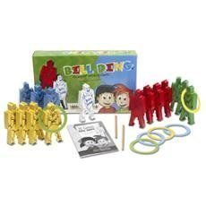 Bill Ding Deluxe Set The Original Stacking Balancing Building Wood Clowns ()