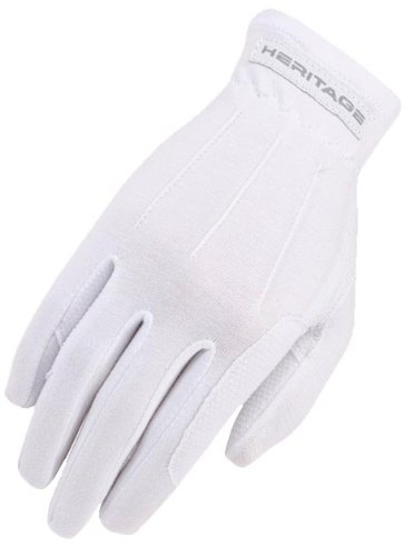 Heritage Power Grip Gloves, Size 8/9, White